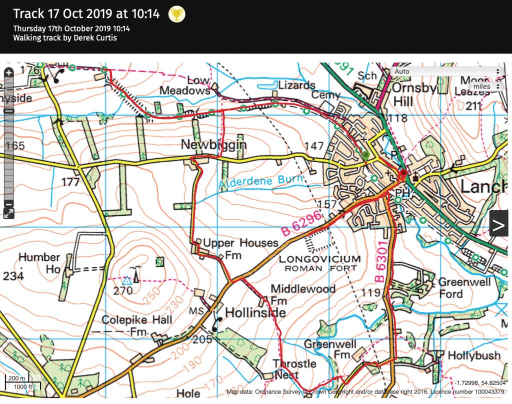 Carpeway Lanchester route